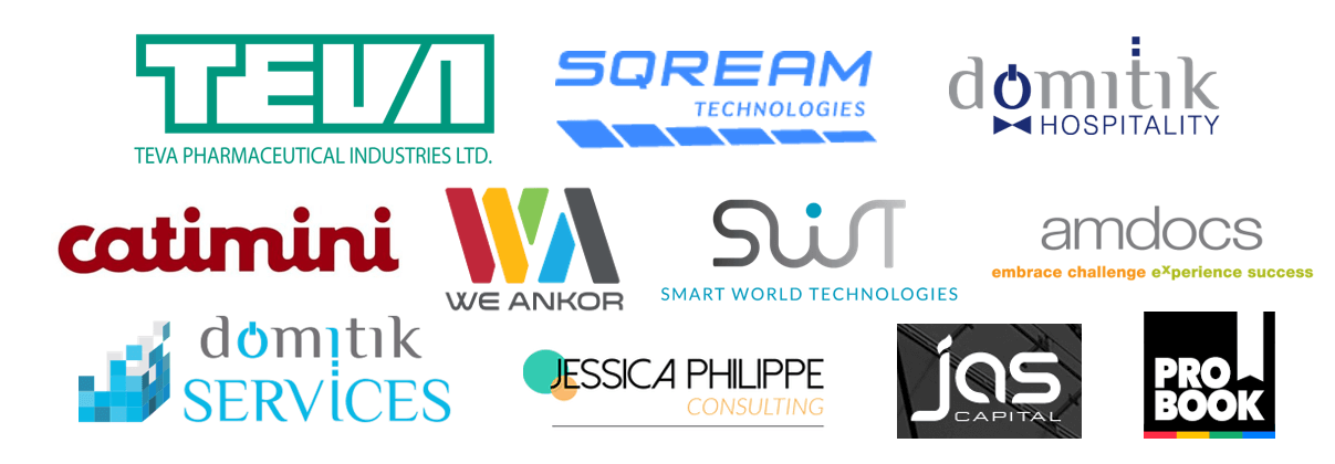 Some of our clients: Teva, Amdocs, SWT, Domitik, Sqream Technologies, Catimini Israel, WeAnkor, JP consulting, JAS Capital, ProBook, and more.