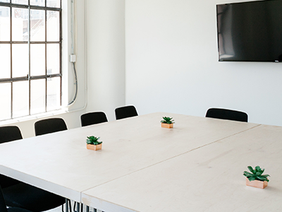 Boutique Consulting Firm boarding room